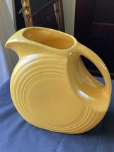 Homer Laughlin Fiesta® Fiestaware Vtg Yellow Water Disc Water Pitcher VGC - $25.21