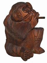 Bad Monkey Rude Smoking Cigar Pipe Statue 6 in - $24.69