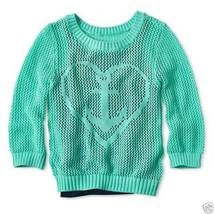 Arizona Mixed-Stitch Icon Bermuda Blue Sweater Girls XXL Plus New MSRP $... - $11.99