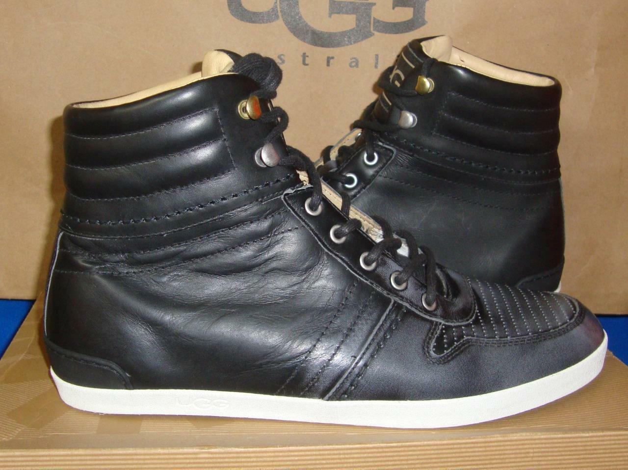 UGG Australia EMPIRE Men Two Tone Pew Leather Sneakers Size US 9 NIB #1000642