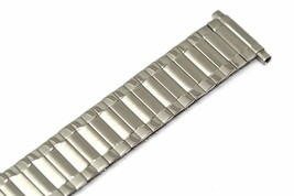 16-22MM EXTRA LONG STAINLESS STEEL SILVER TWIST O FLEX RADIAL WATCH BAND... - $19.79