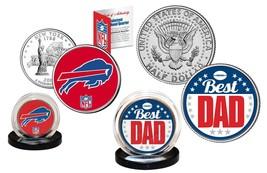 Best Dad - BUFFALO BILLS 2-Coin Set U.S. Quarter & JFK Half Dollar NFL L... - $14.80