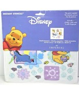 Disney Winnie the Pooh Rub On Instant Stencils Wall Decor NEW Free Shipping - $12.99