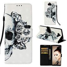 Sony Xperia L2 Case,Gloryshop 3D Painted Pattern PU Leather Wallet Case ... - $5.93
