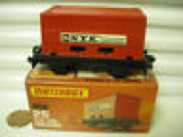 LESNEY MATCHBOX 1977 MB25C RED NYK CONTAINER FLAT CAR *C9 MINT IN *NEW M... - $79.19