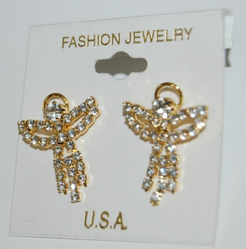Fashion Jewelry Brand Gold Color Angel Earrings American Made