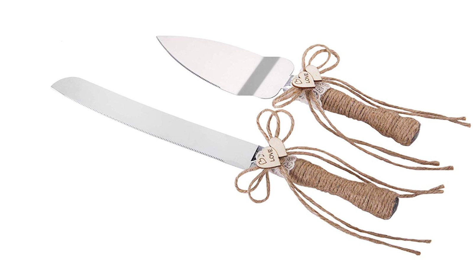 Rustic Wedding Cake Knife And Server Set And 50 Similar Items