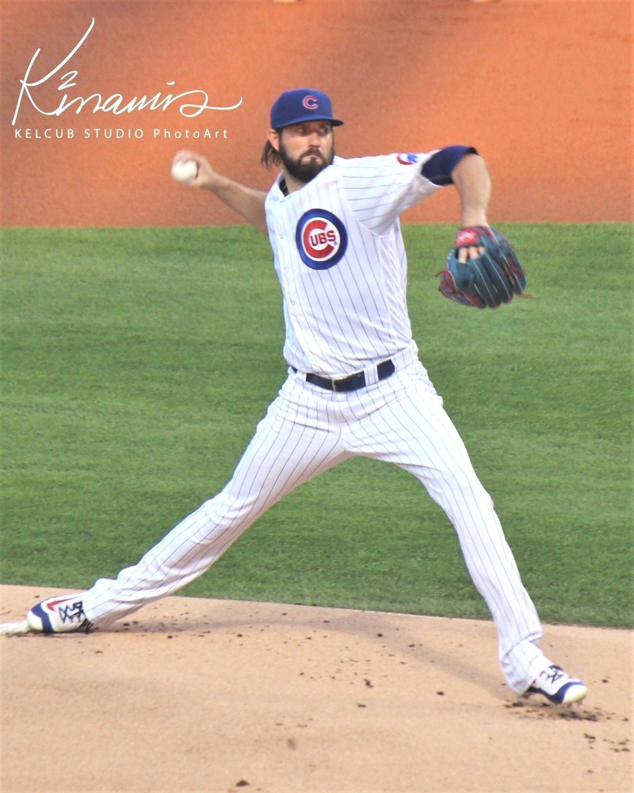 Primary image for Original Jason Hammel Chicago Cubs Game Action Pic Various Sizes PhotoArt