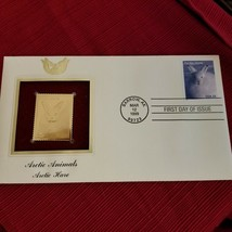 Arctic Animals - Arctic Hare First day issue Gold Stamp - $3.17
