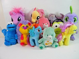 "My Little Pony Care Bear Plush Toy Dolls Lot 12"" & 6"" - $24.70"