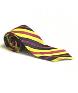 VINTAGE MENS TIE NECKTIE FORMAL CASUAL CHRISTIAN DIOR STRIPED ITALY YELL... - $9.85