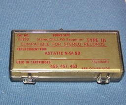 162-DS77 PHONOGRAPH NEEDLE STYLUS for ASTATIC N54-sd 455 457 463 image 2