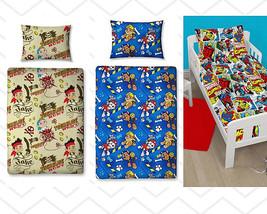 Duvet Cover Character Set Junior Pillowcase Toddler Cot Bed Paw Patrol Jake Marv - $11.57+