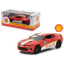 2017 Chevrolet Camaro SS Shell Oil Racing 1/24 Diecast Model Car by Gree... - $37.09