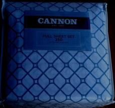Cannon Rylie Full Sheet Set - Brand New In Package - Cotton Blend - 250 Tc - $59.39