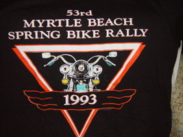 53rd Myrtle Beach Spring Bike Rally 1993 T-Shirt Size Large - $26.00