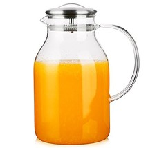 Hiware 68 Ounces Glass Pitcher with Lid and Spout - High Heat Resistance... - $23.44