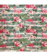 Throw Blanket | Flamingos and Flowers | 180x220 cm - $59.90