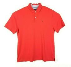 Tommy Hilfiger Polo Shirt Flag Logo 90s Vintage Look Box Logo Mens Short... - $22.30