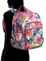 Vera Bradley Quilted Signature Cotton Iconic Campus Backpack, Superbloom image 5
