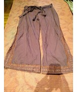 Vintage Fatto a Mano Burgundy Zampa di Elefante Avvolgente Pantaloni - $64.37
