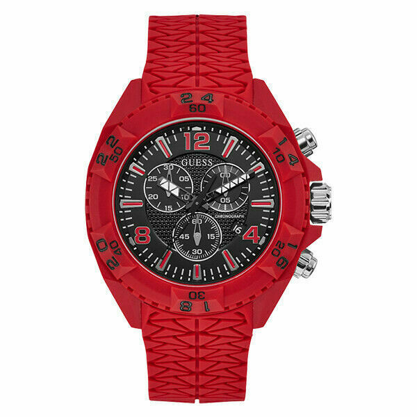 Guess W1271G3 Thor Mens Oversized Red Silicone Watch - £73.22 GBP