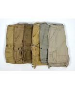 Lot 6 Cargo Shorts Men Sz 30 Khaki Tan Levis Lee Dungarees Roebuck Arizo... - $48.50