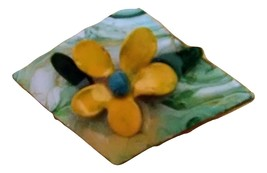 Yellow Flower Brooch. (Free with the purchase of a scarf.(See Details) - $7.00