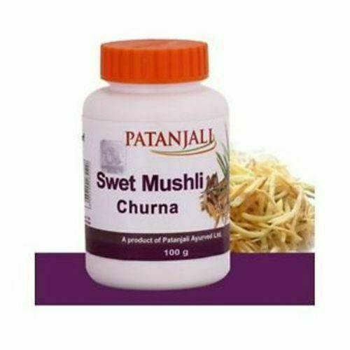 2x Patanjali Divya Swet Musli Churna Shvet Musli Powder Safed Musli Ramdev 100g image 2