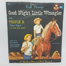 """Mickey Mouse Club 78 RPM 6 """" Record D292 Good Night Little Wrangler / Tr... - $26.84"""
