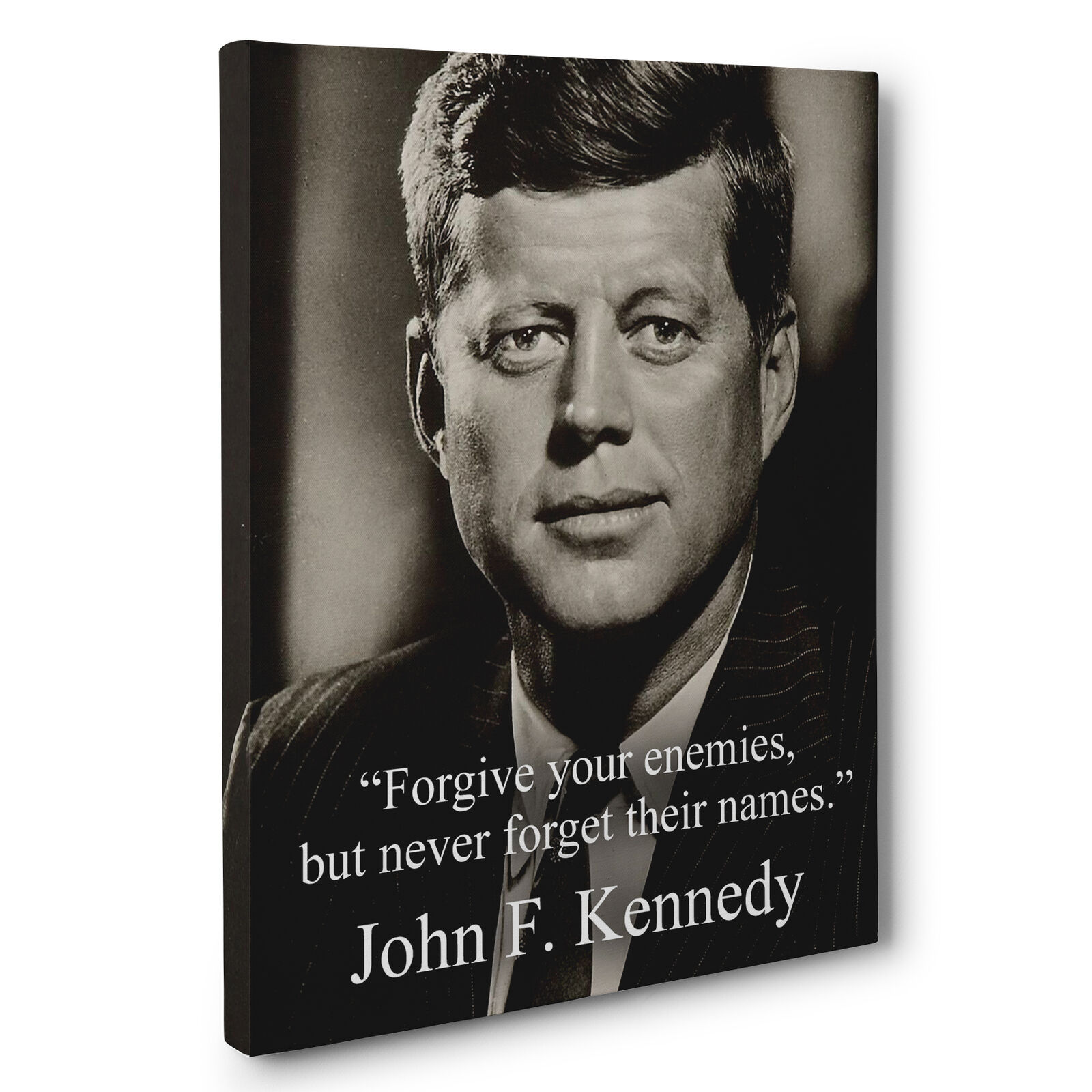 John F Kennedy Quotes: John F. Kennedy Motivation Quote Canvas Wall Art