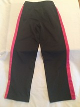 Nike pants Size 6X sweatpants warm up joggers black pink athletic girls - $9.99