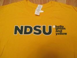 NDSU Hello Green and Yellow North Dakota State University T Shirt Size L - $7.99