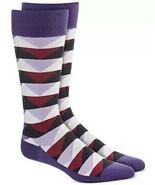 Mens Dress Socks Abstract Triangles Purple Alfani Alfatech 1 Pair $10 - NWT - $3.95