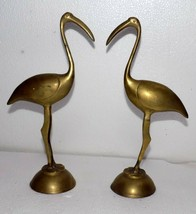 India Vintage Crane brass figurine Pair hand casted and hand crafted #C-467 - $45.90