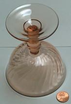 "Arcoroc France Rosaline Pink 4.5"" Replacement Swirl Stem Desert Sorbet C... - $19.06"
