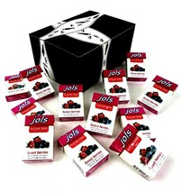 Jols Sugar Free Forest Berries Pastilles, 0.88 oz Packets in a BlackTie Box Pack