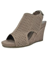 TOETOS Women's Solsoft-6 Taupe Mid Heel Platform Wedges Sandals - 9.5 M US - $22.98