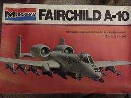Monogram 1:72 Fairchild A-10 Plastic Aircraft Model Kit #5405 - $11.39