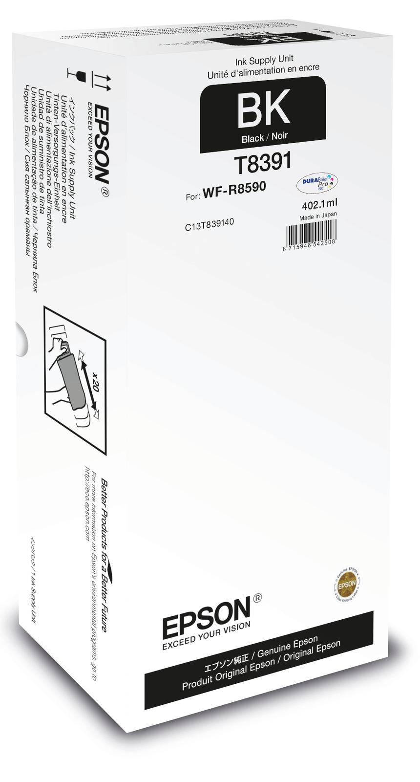 Epson C13T839140 (T8391) Ink cartridge black, 20K pages, 402ml - $262.80