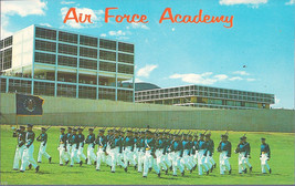 Cadets On Parade U. S. Air Force Academy, Colorado Postcard - $3.99