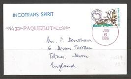 1986 Paquebot Cover, British stamp used in Miami, Florida (Jun 6) - $5.00