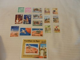 Lot of 17 Niger Stamps Prince Charles, Lady Diana, Viking Mars Mission, ... - $19.80