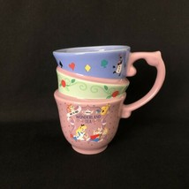 Disney Parks Alice in Wonderland Mad Tea Party Triple Stackable Mug Cup New - $29.55