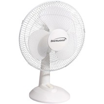 """Brentwood Koolzone 16"""" Oscillating Desk Fan (white) BTWF16DW - $47.49"""