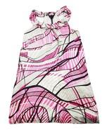 Poleci 100% Silk Lined Sheath Dress Size 4 Sleeveless Halter Top Abstrac... - $24.06