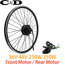 Conversion Kit Motor Electric Bike Motorized 36V 48V 250W 350W Free Hub ... - $365.62+