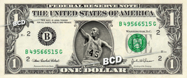 MICHAEL JORDAN - Real Dollar Bill Cash Money Collectible Memorabilia Cel... - $7.77