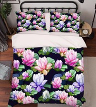 3D Flowers 293 Bed Pillowcases Quilt Duvet Cover Set Single Queen King Size AU - $64.32+