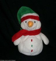 TY 2004 PLUFFIES ICEBOX THE SNOWMAN CHRISTMAS STUFFED ANIMAL PLUSH TOY R... - $13.33